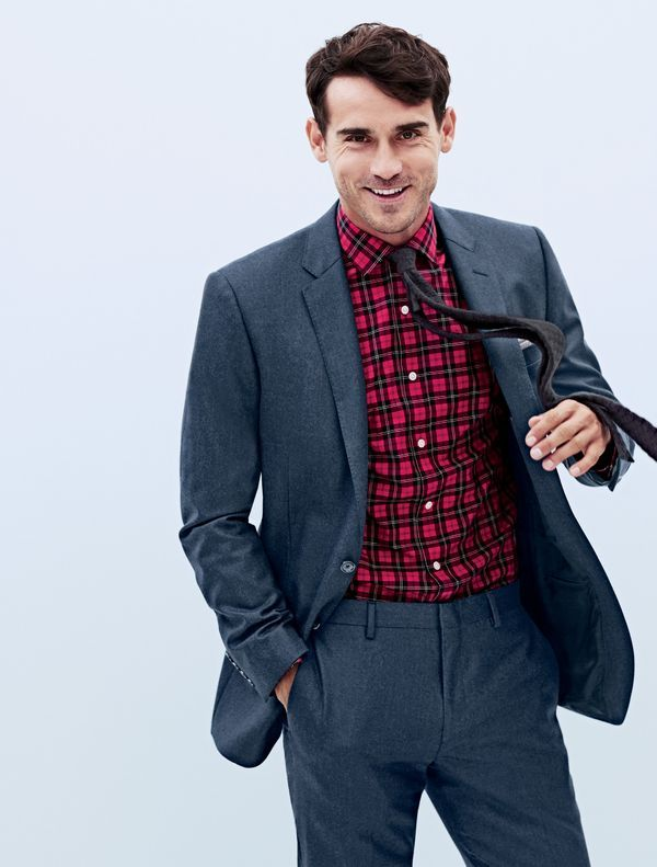 flannel shirt with suit