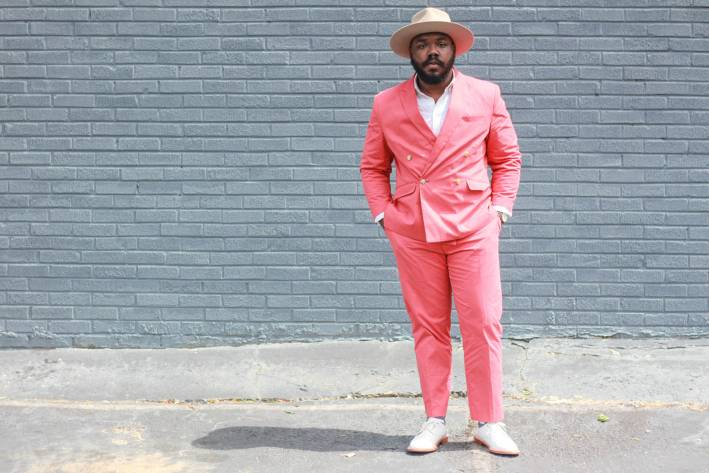 notoriously dapper bright suit