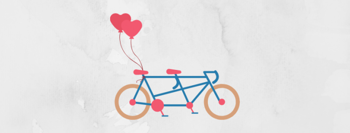 tandem bike graphic