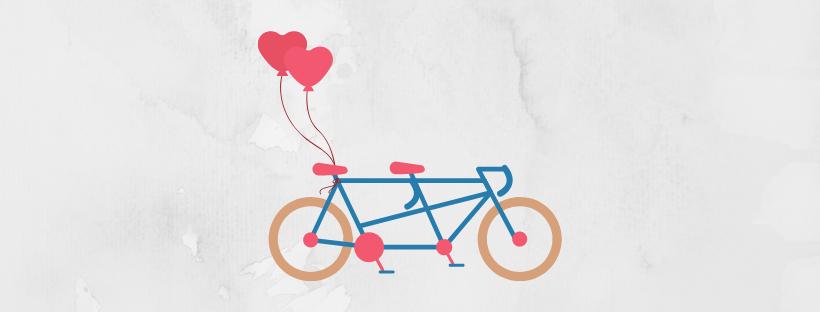 tandem bike graphic