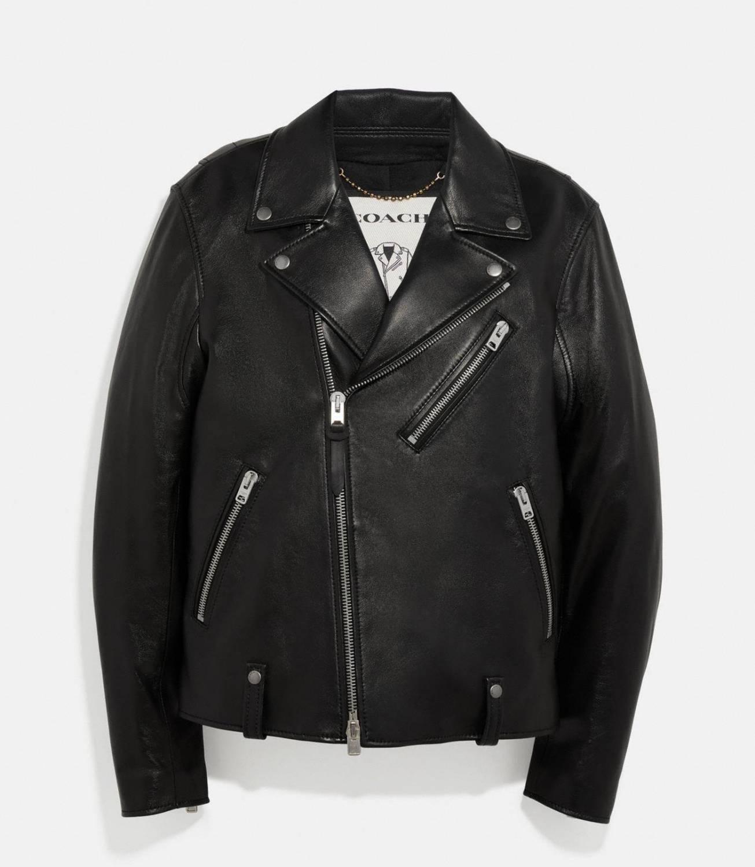 Coach Leather Moto Jacket