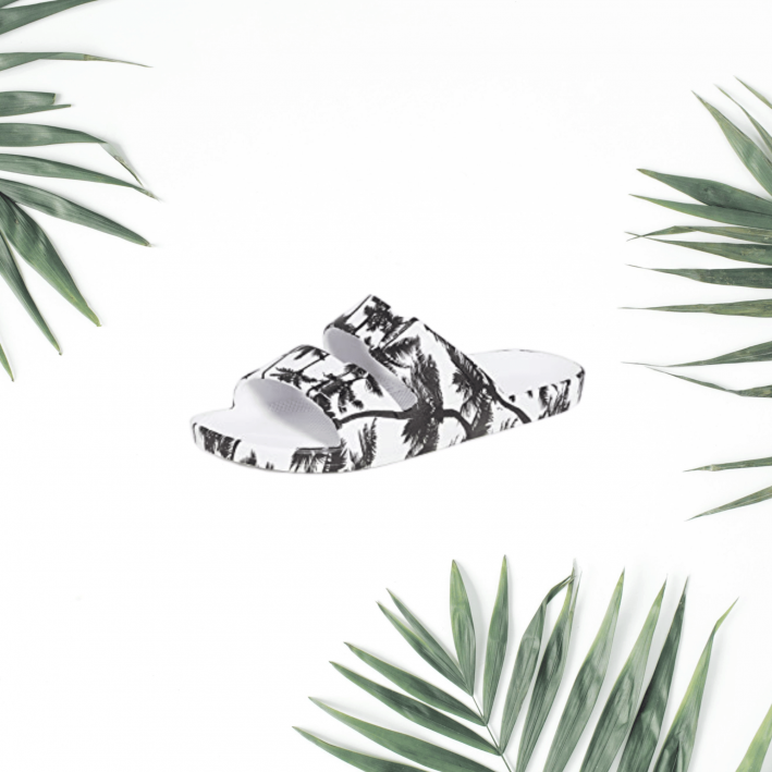 freedom moses palm print sandals
