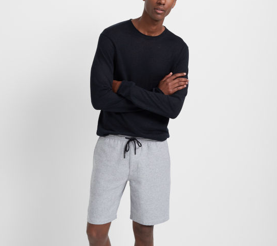 club monaco linen rollneck black sweater