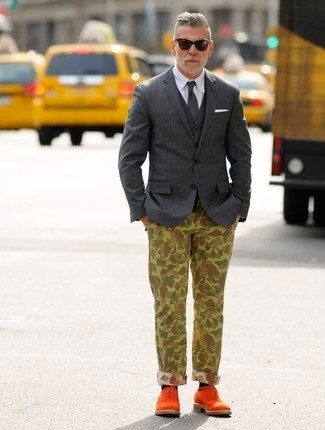 camo print outfit idea, nick wooster style