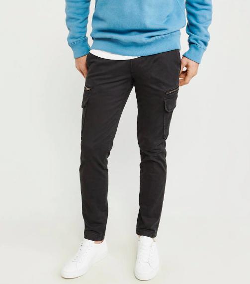 men's black cargo pants