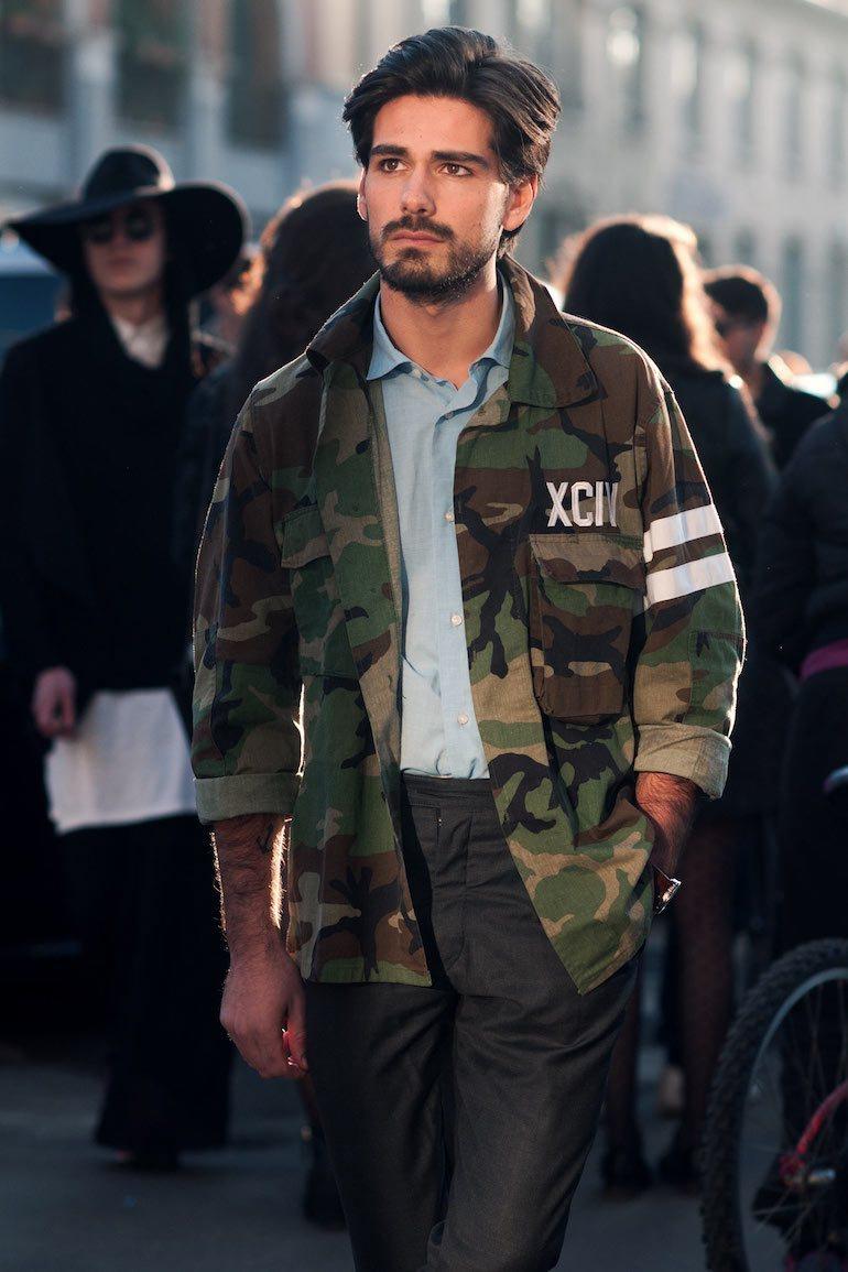 camo print jacket, how to wear camo print