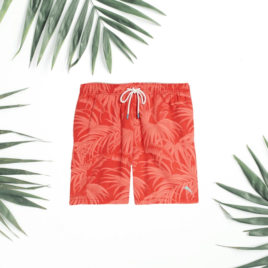 tommy bahama red swim trunks