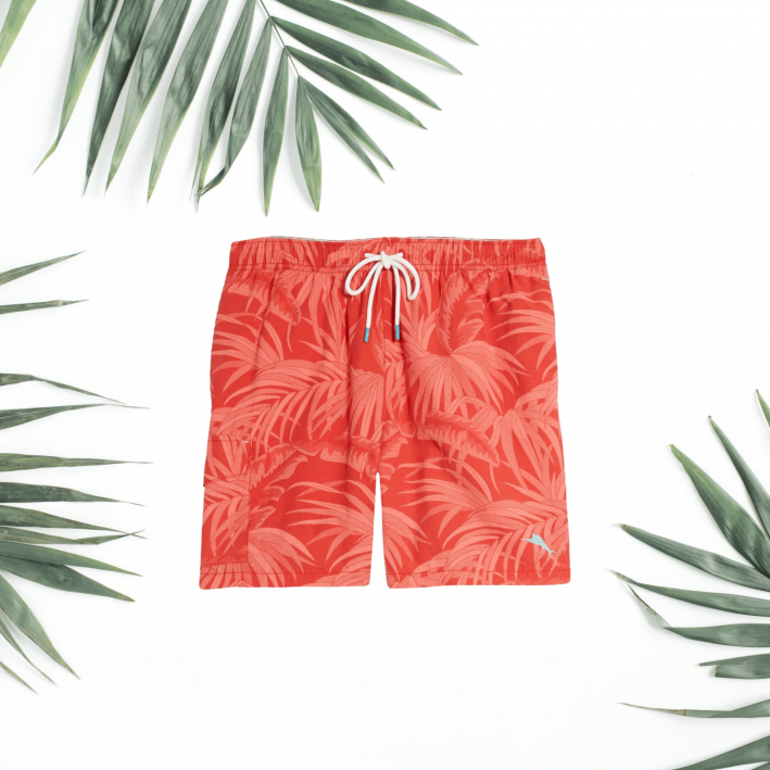 tommy bahama red swim trunks