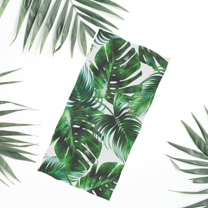 amazon palm print beach towel