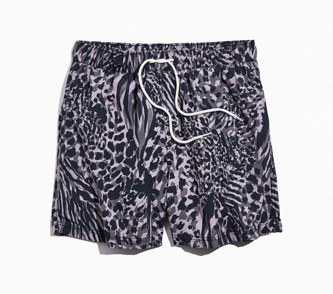 urban outfitters Grey Animal Print Swim Short