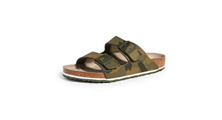 camo birkenstock sandals