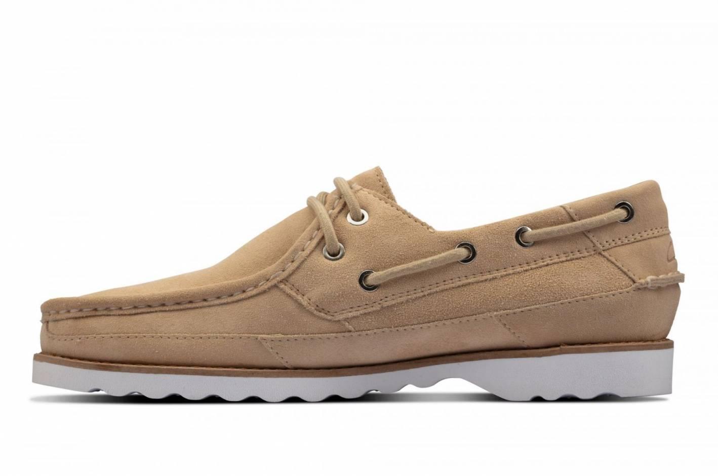 Clarks Durleigh Sail tan boat shoe
