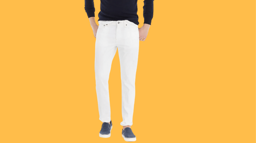 mens white jeans outfits for summer