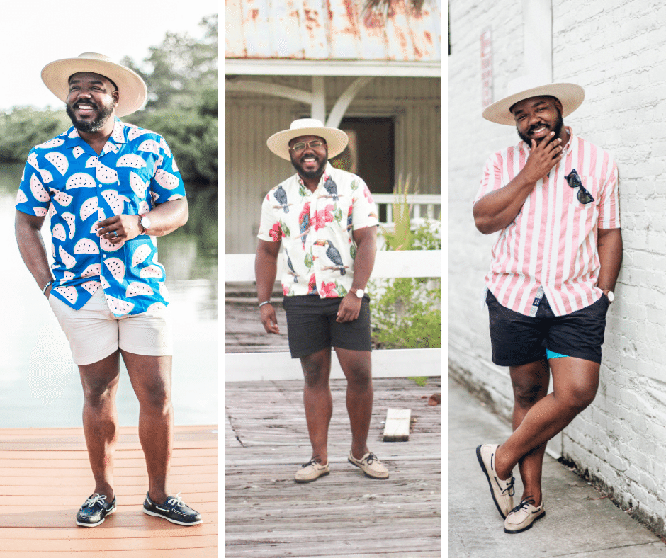 how to wear shorts with a short sleeve button up shirt