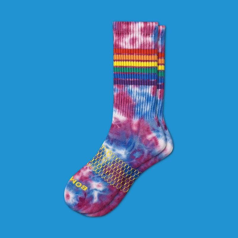 bombas pride tie-dye socks