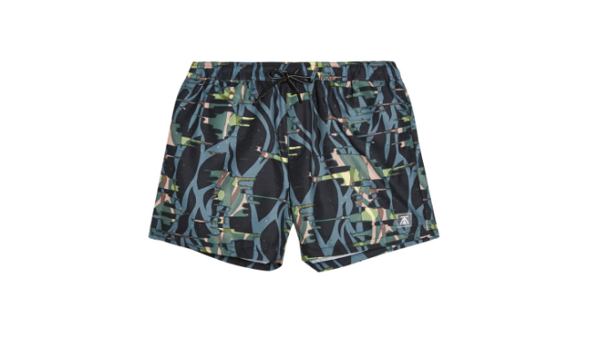 topman abstract camo swim trunks