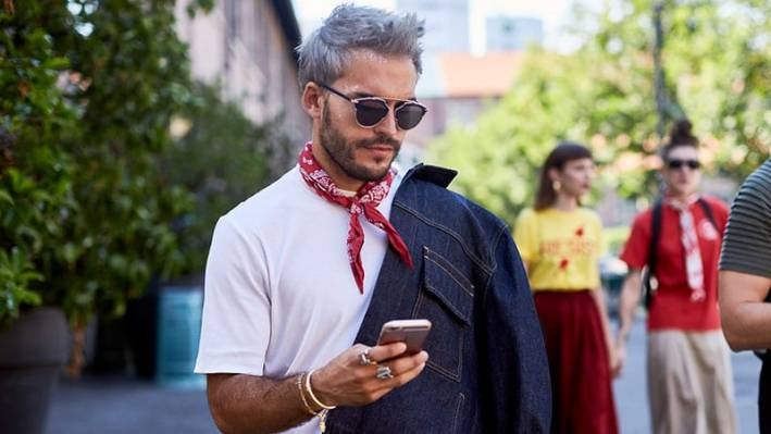 trendspotter how to wear a bandana around the neck