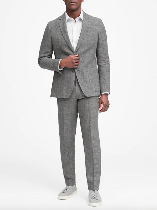banana republic linen suit looks, how to wear a linen suit