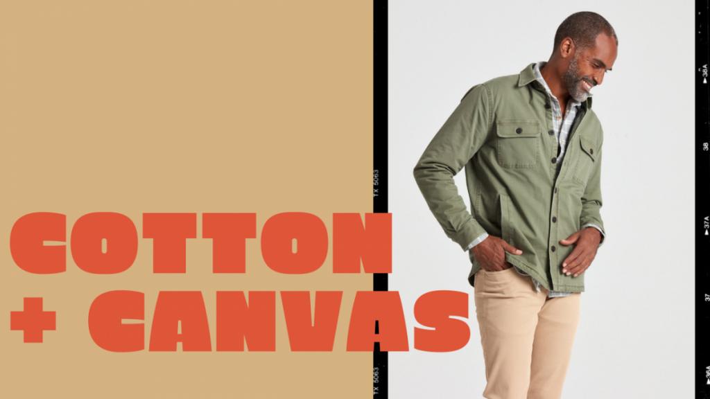 cotton canvas shirt jackets