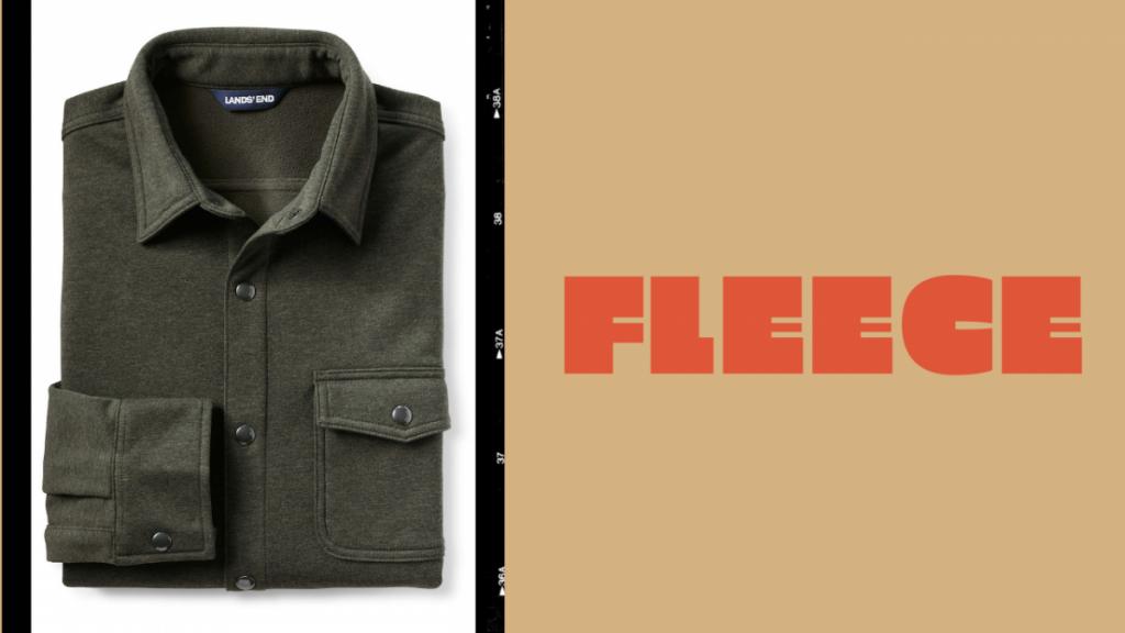 L.L. Bean fleece shirt jacket