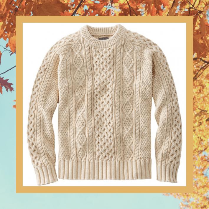 l.l. bean fisherman sweater