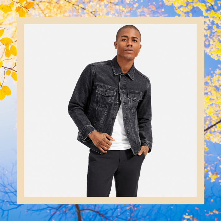 everlane black denim jacket