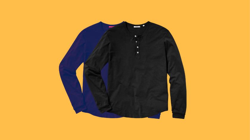 men's henley shirt outfit ideas