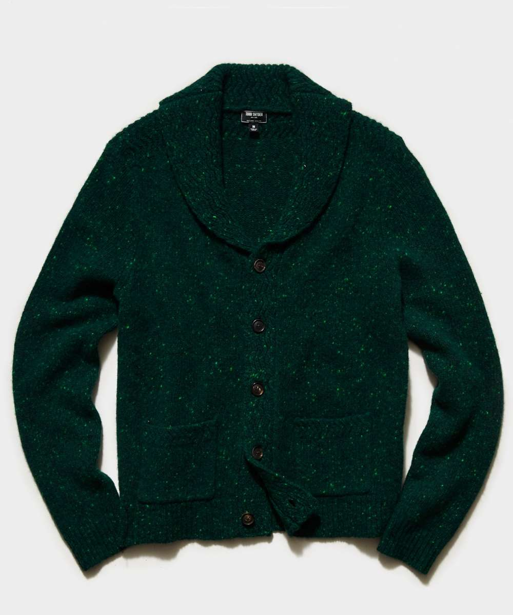 Todd Snyder cashmere donegal cardigan