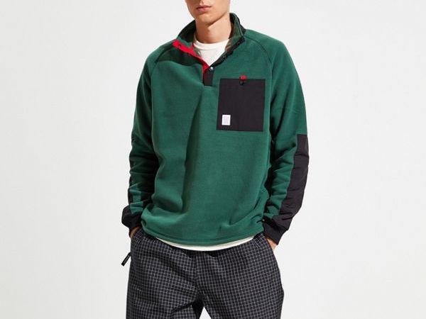 topo designs fleece pullover
