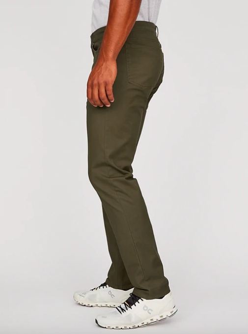 Hill City twill 5-pocket pant in athletic slim fit
