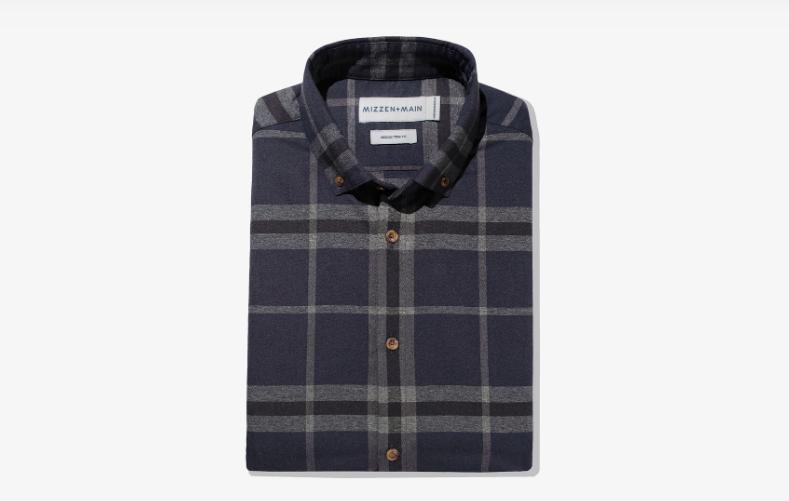 mizzen+main large check flannel shirt