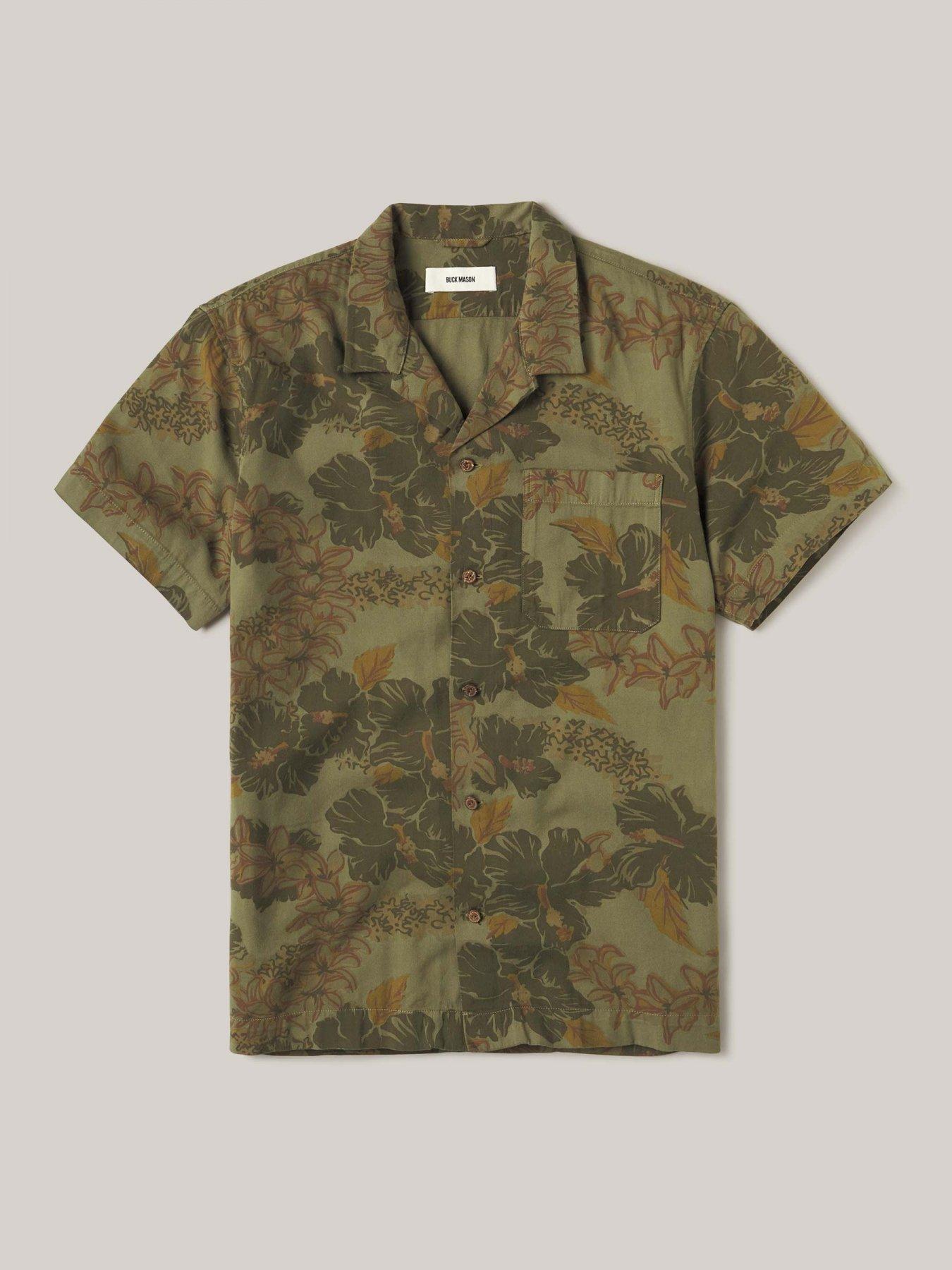 Buck Mason kauai draped twill vintage camp shirt