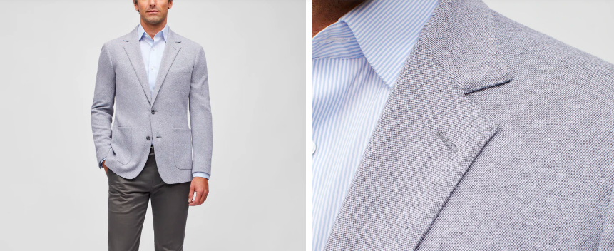 the best spring jackets for guys include a knit blazer, like this one from Bonobos