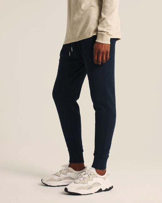 abercrombie fitch navy jogger pants, best loungewear for men