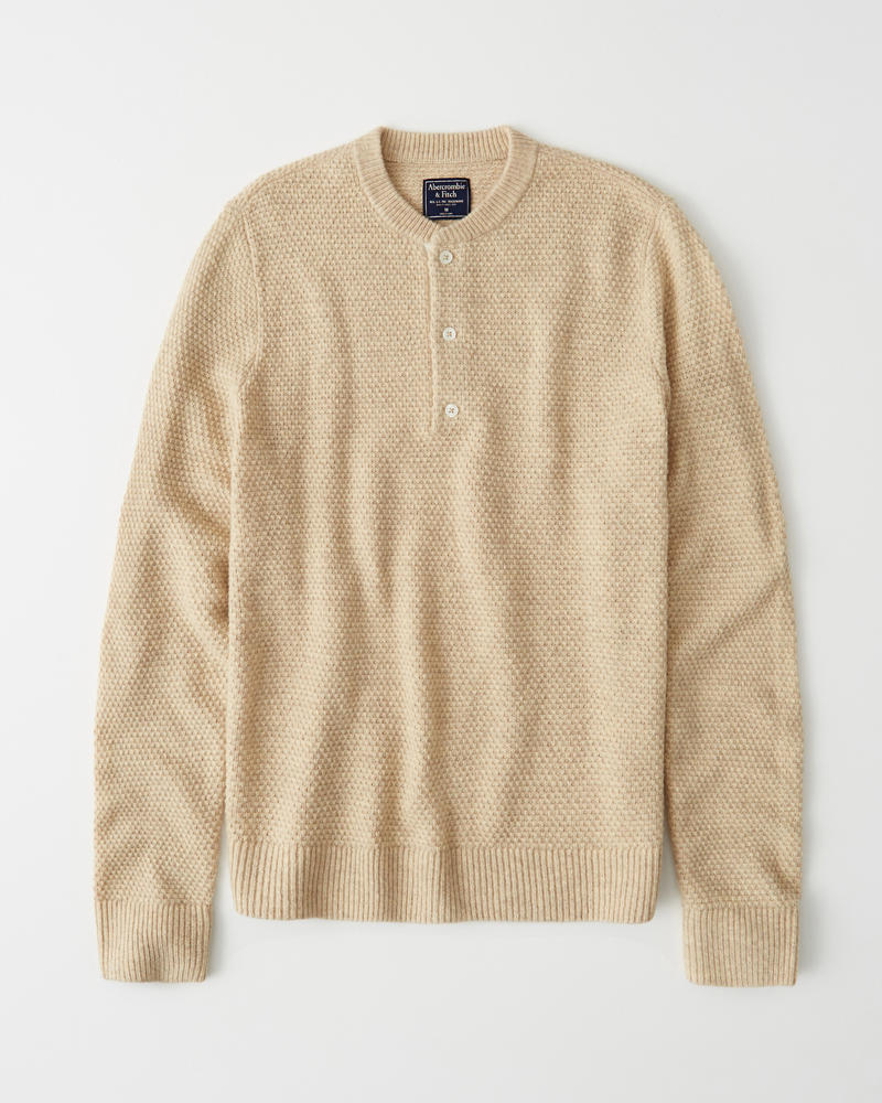 abercrombie and fitch henley sweater
