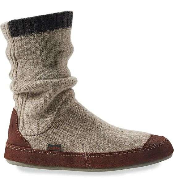 acorn slouch boot slipper