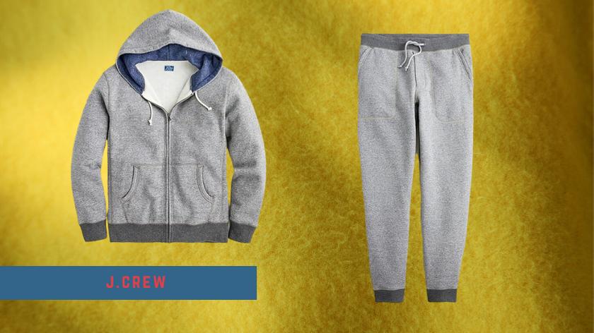 jcrew grey sweatsuit