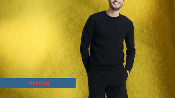 naadam black cotton cashmere sweatsuit