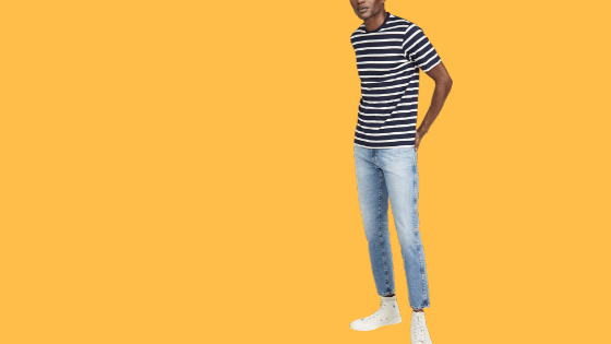 stripe t-shirt outfits for guys