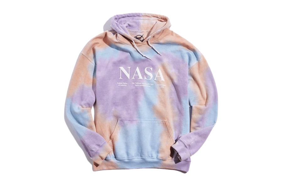 urban outfitters tie dye nasa hoodie sweatshirt