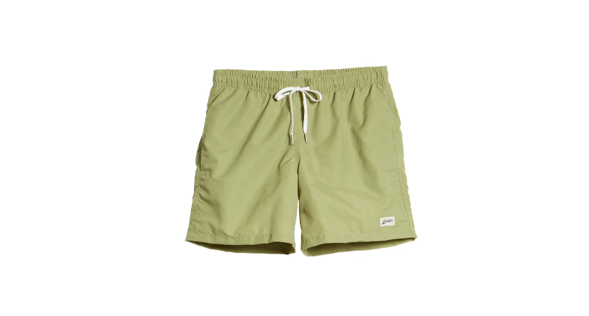 Bather green solid colored swim trunks