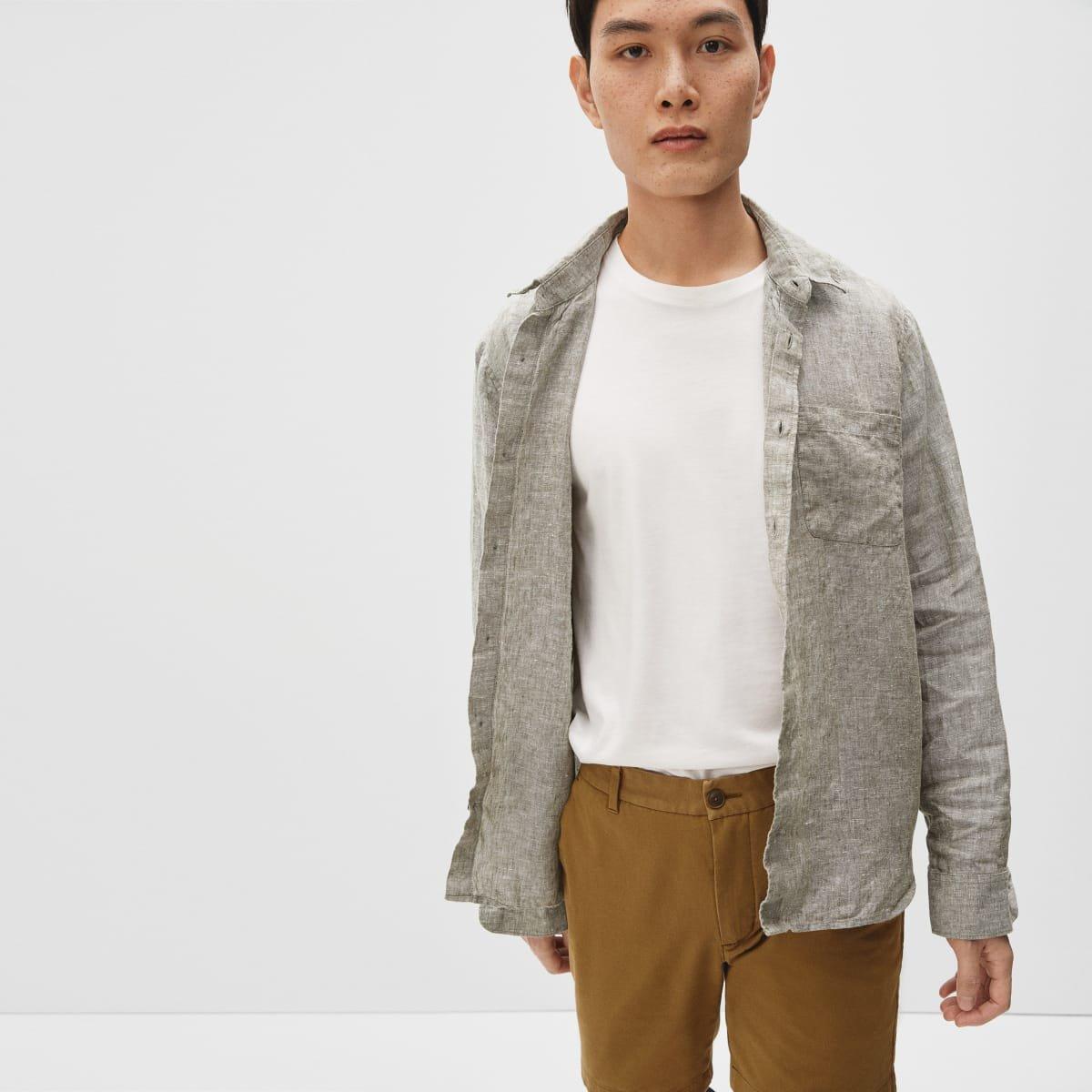Everlane standard fit linen shirt