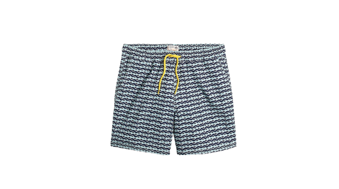 j.crew printed swim shorts