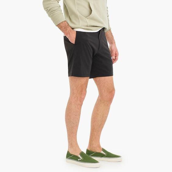 j.crew 7-inch black tech shorts
