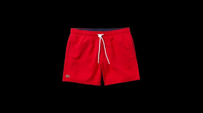 Lacoste red Light Quick-Dry Swim shorts
