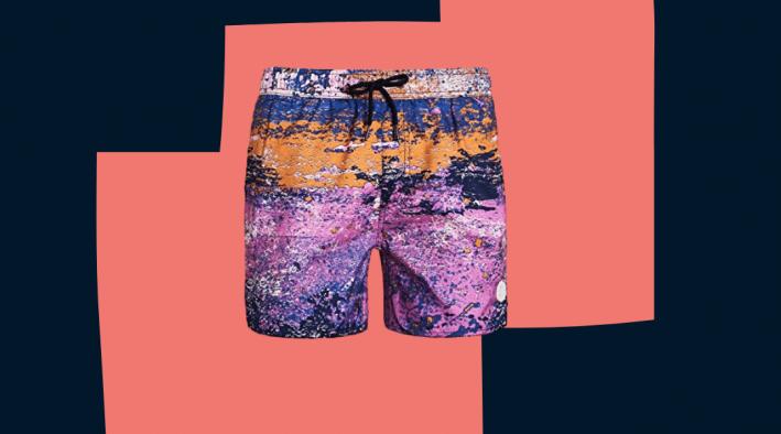 native youth purple swim trunks