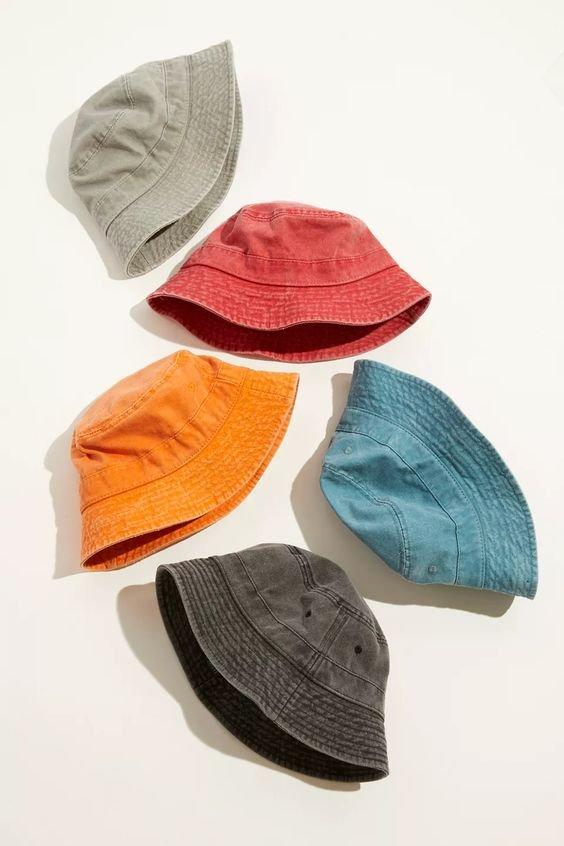 UO washed bucket hats