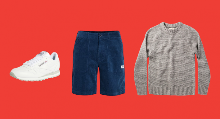 shorts and long sleeve shirt outfit for guys