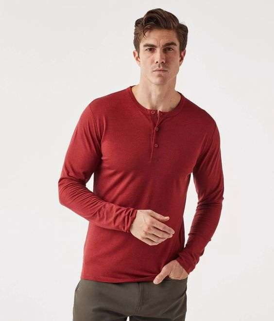 Olivers Apparel Convoy Long Sleeve Henley