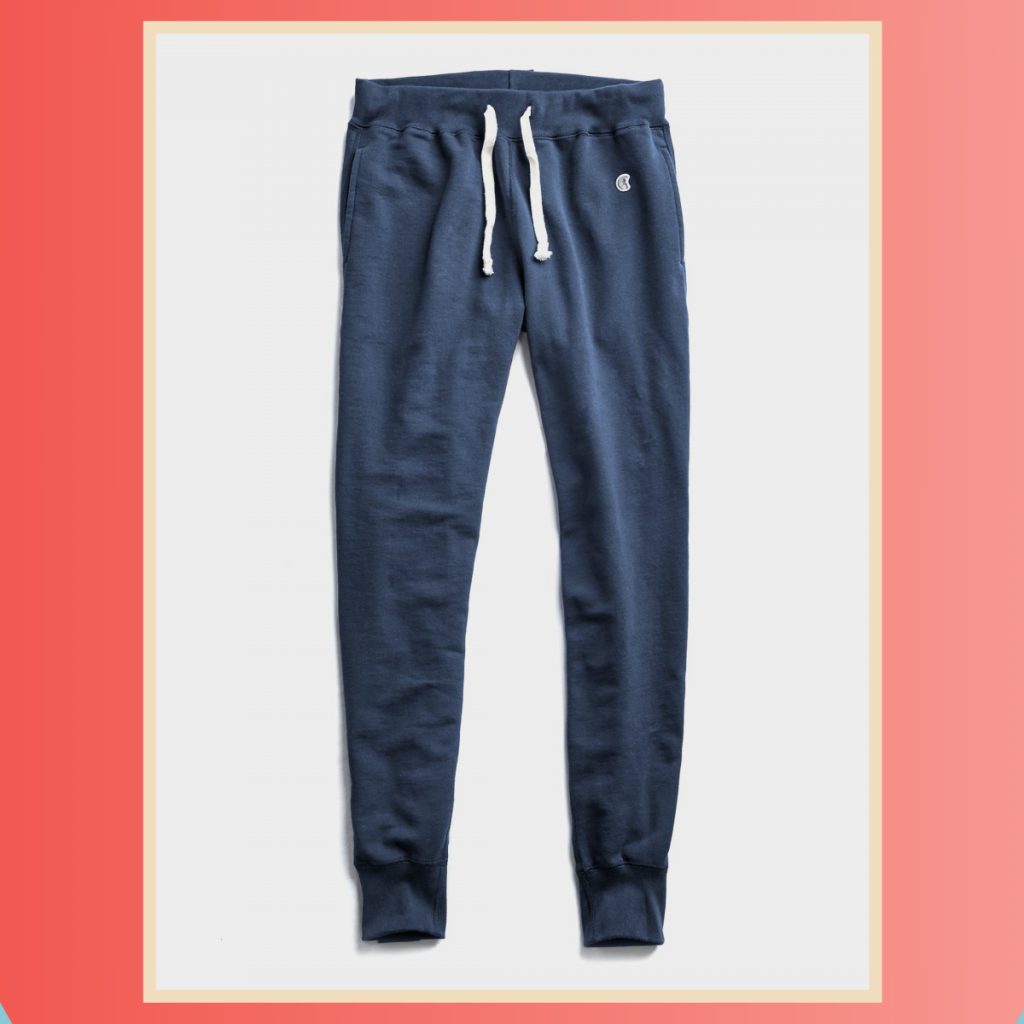 Todd snyder + Champion Midweight Slim Jogger Sweatpant in Hale Navy